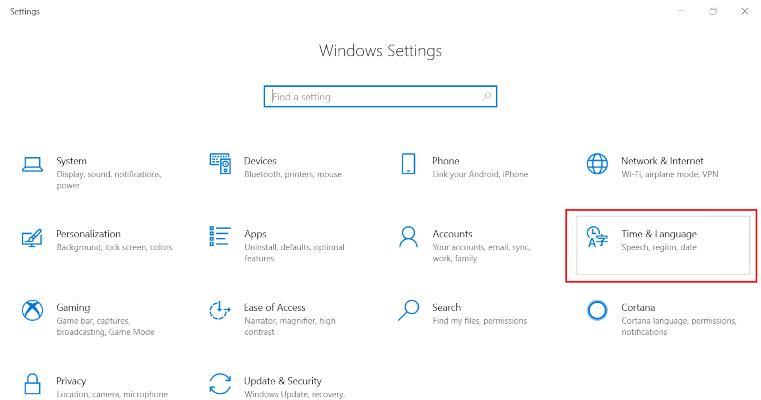 Windows 10 Korean keyboard step 2