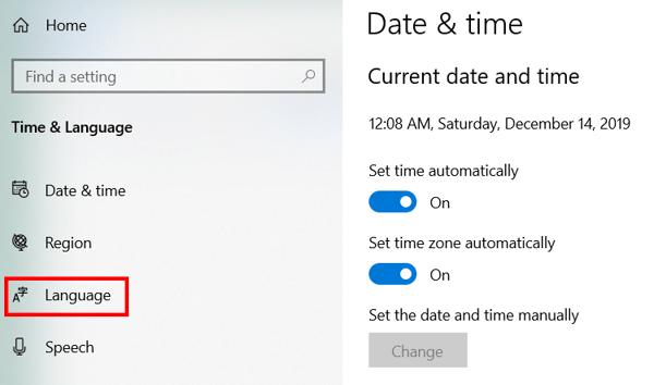 Windows 10 Korean keyboard step 3